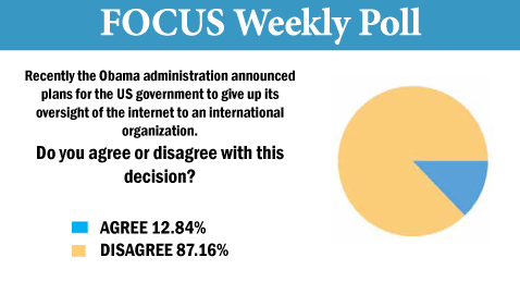 Focus Poll for Monday, March 31, 2014