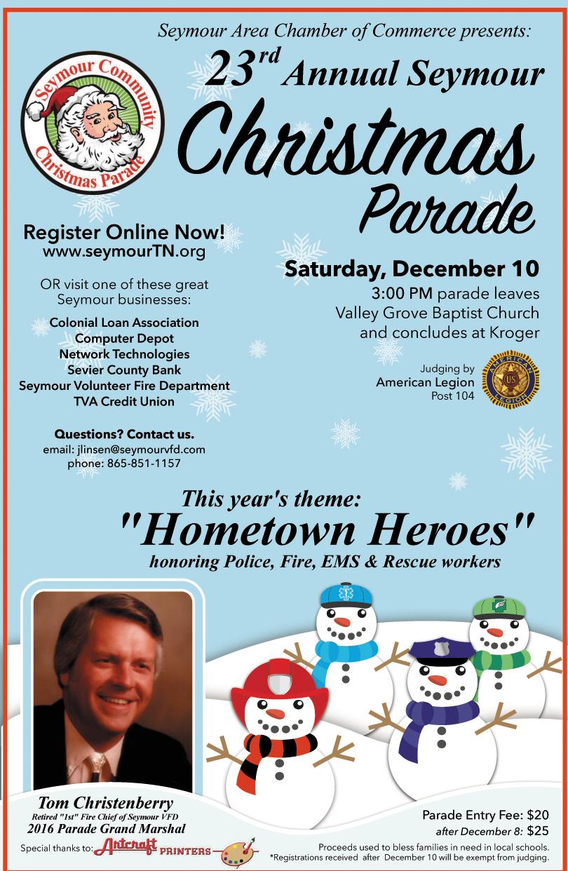 23rd Annual Seymour Christmas Parade this Saturday