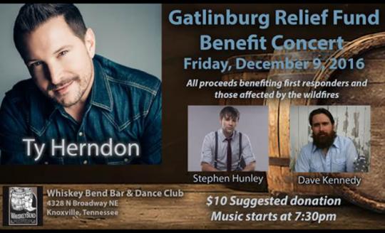 Gatlinburg Relief Concert to be held Friday