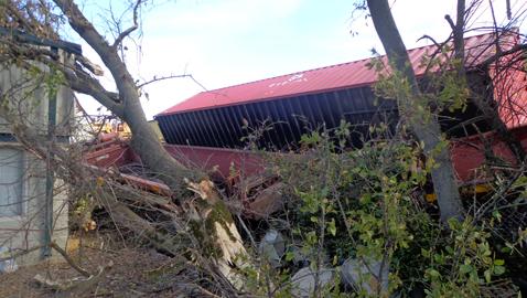 Train wrecks in Inskip
