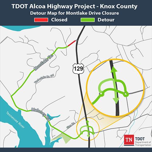 TDOT Knox County Traffic Alert: Upcoming Alcoa Highway closure